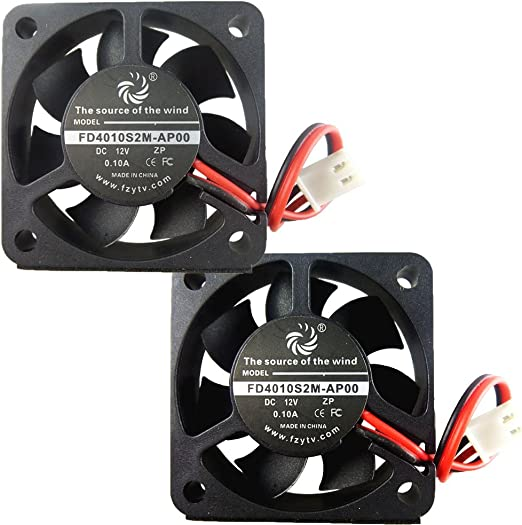 4 Pcs 12V 40mm Cooling Case Fan 40x40x10mm DC RepRap 3D Printer 2 Pin Silent