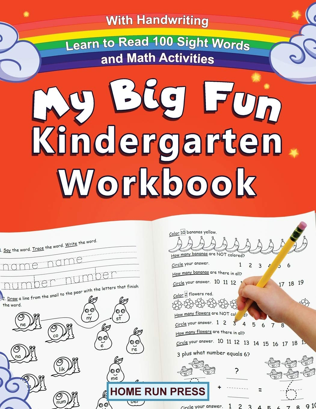 Writing Workbook English Home Learning And School For Toddler Gift Game Ages 3-5