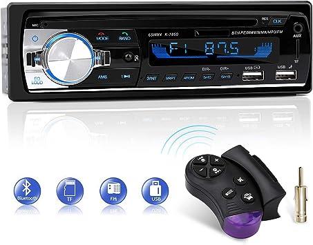 Autoradio Bluetooth, CENXINY FM 4x65W Radio Para Coche Llamadas Manos Libres Control Remoto Radio stéreo de Coche con Reproductor de MP3 USB y Bluetooth 4.2, soporte IOS y teléfono Android: Amazon.es: Electrónica