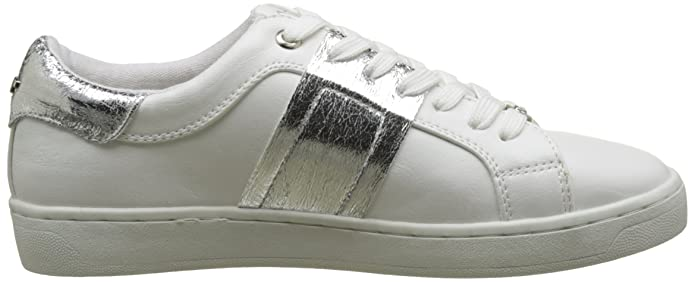2792601, Baskets Basses Femme, Blanc (White-Silver), 39 EUTom Tailor