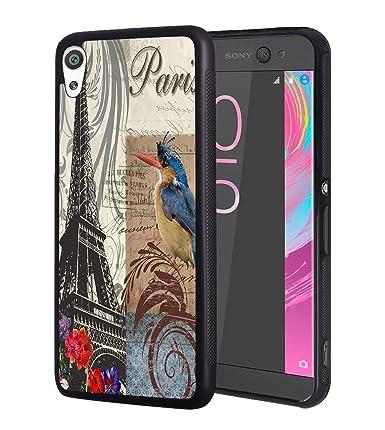 Amazon.com: Sony Xperia XA Ultra Case,Retro Paris Eiffel ...