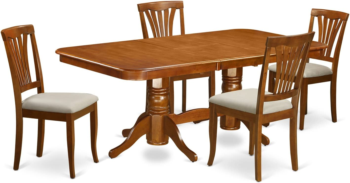 DLKE5-BCH-LC 5 PC Kitchen Table set-Dining Table and 4 Kitchen Chairs