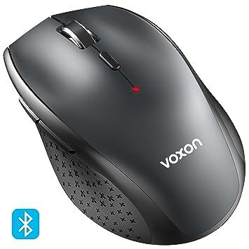 Ratón Inalámbrico Bluetooth, VOXON 3000DPI Wireless Mouse con indicador de batería, 5 Niveles DPI