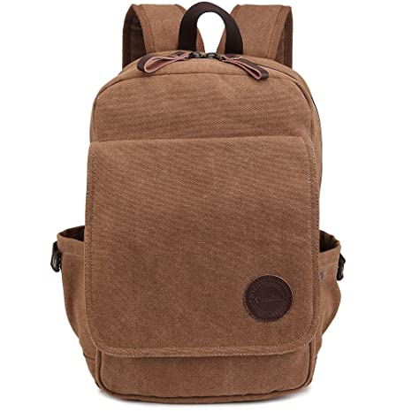 6faf118981ca Amazon.com  Zebella Vintage Canvas Backpack for Laptop School ...