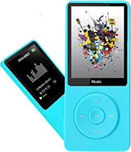 MP3 Player, Dyzeryk Music Player with 16GB Micro SD Card, Ultra Slim Music Player with Build-in Speaker, Photo Viewer, Video Play, FM Radio, Voice Recorder, E-Book Reader, Supports up to 128GB