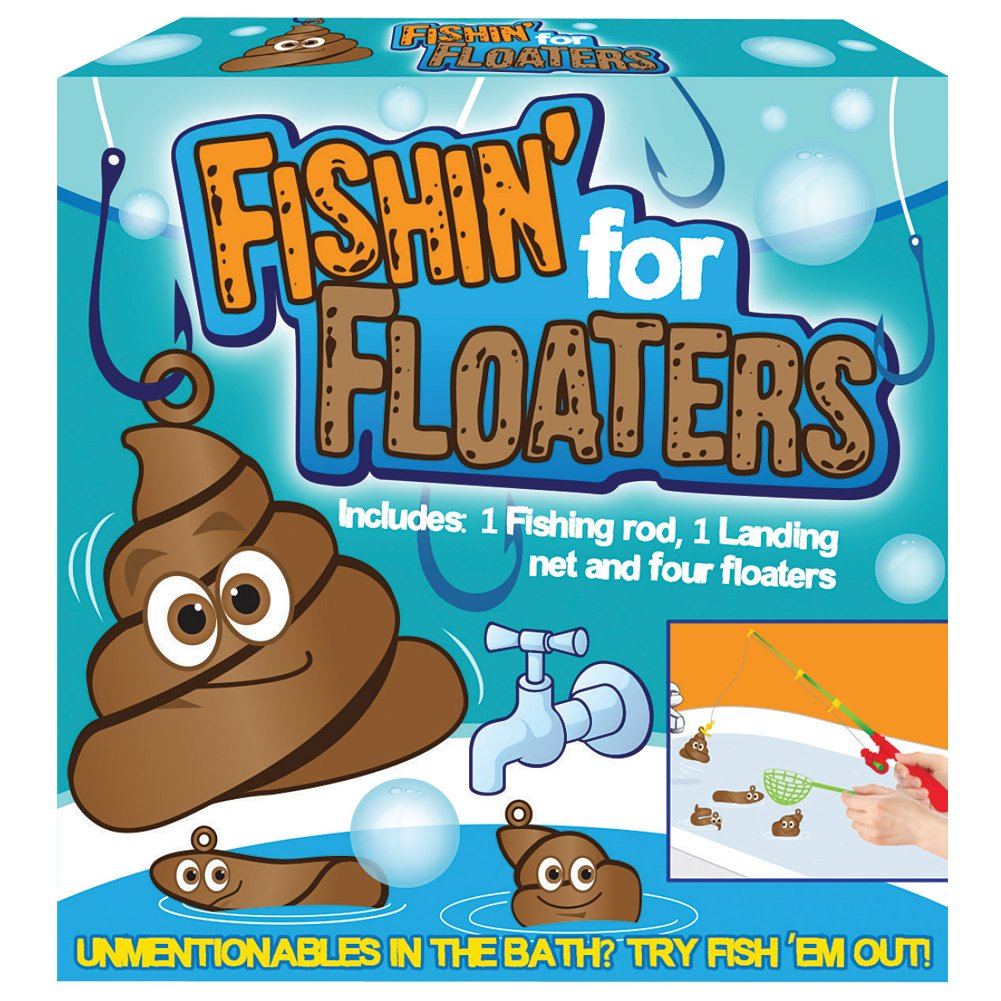 Amazon.com : Fishin\' For Floaters Bath-Time Poop Scoopin Fishing ...