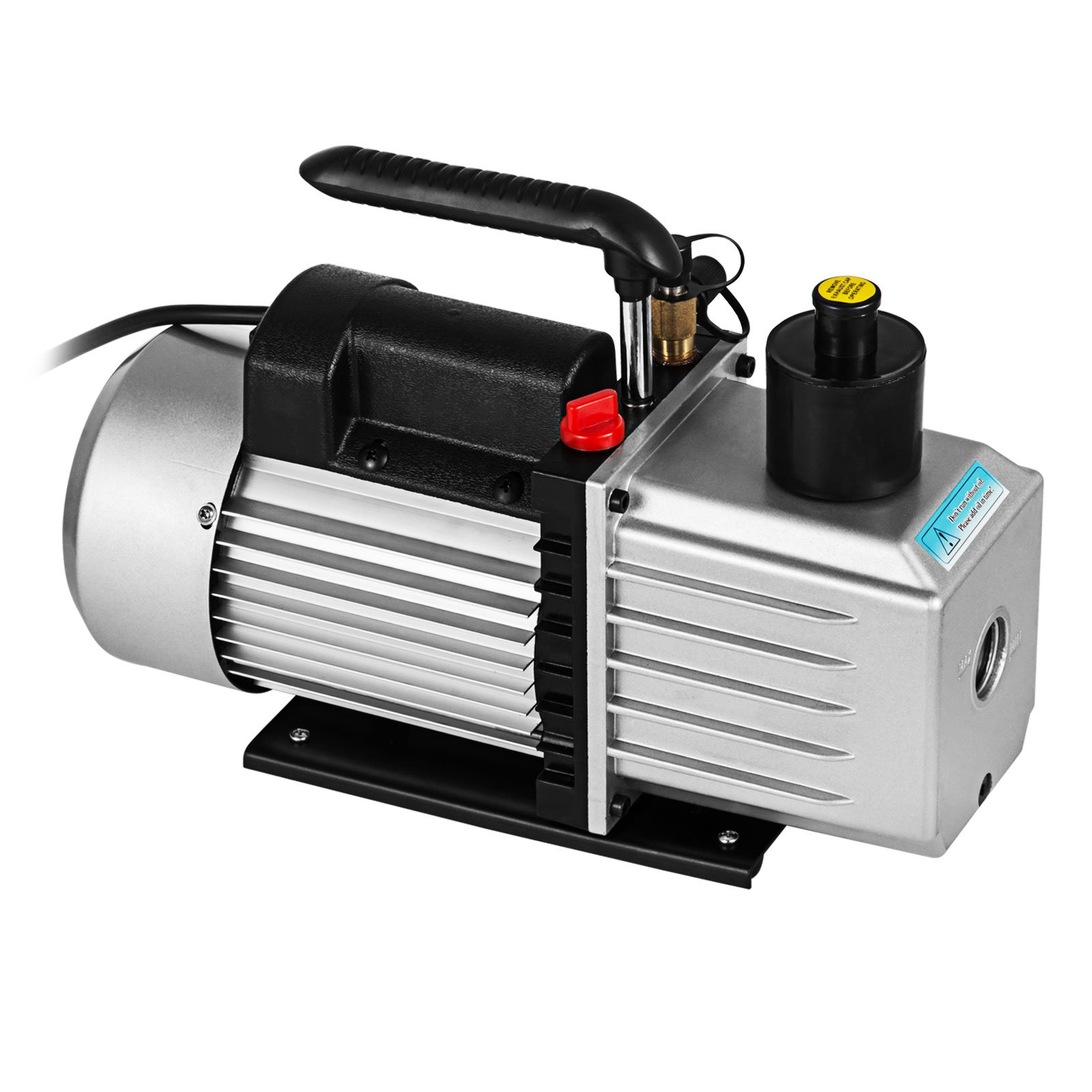 VEVOR Vacuum Pump 8CFM 1HP Two Stage HVAC Rotary Vane Vacuum Pump Wine Degassing Milking Medical Food Processing Air Conditioning Auto AC Refrigerant Vacuum Pump (2-Stage, 8CFM) by VEVOR (Image #4)