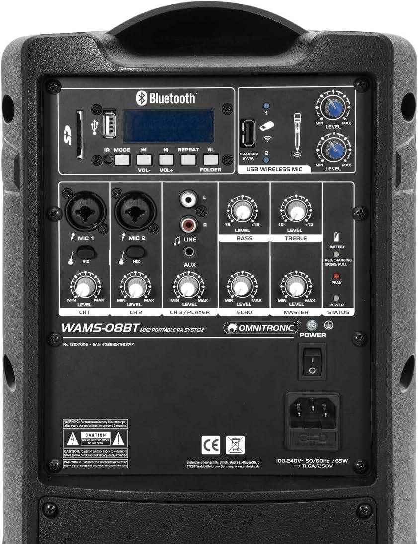 OMNITRONIC WAMS-08BT MK2 Wireless PA System
