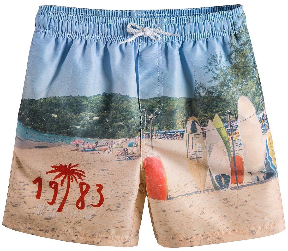 Akula Baby Toddler Boys' Tropical Beach Print Swim Trunk