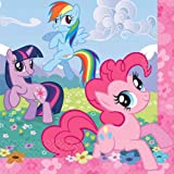"""Charming My Little Pony Friendship Birthday Party Luncheon Napkins Tableware (16 Pack), Multi Color, 6 1/2"""" x 6 1/2""""."""