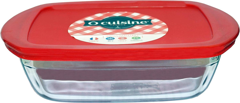 /Contenitore Rettangolare 0,35 l rosso ocuisine Cook /& Store/