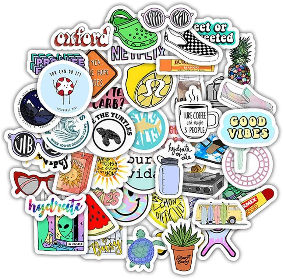50 Pcs VSCO Vinyl Waterproof Stickers for Water Bottles Alien Stickers for Laptops Phones Notebooks