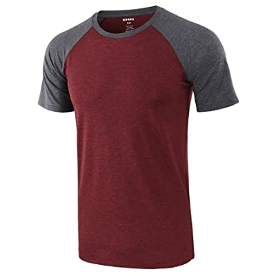 KNQR Mens Athletic Soft 4way Stretch Regular Dry Fit Sport Short Sleeve T-Shirt at Men's Clothing store