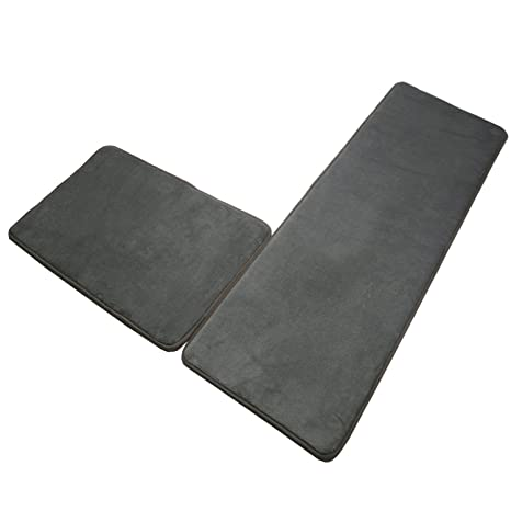 Memory Foam Kitchen Rugs Mats Set,SHACOS 2 Pack Sponge Area Rugs SBR Rubber  Backing