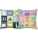 Sweetheart Mom Dad 12x12 Filled Cushions Birthday Anniversary Gift for Mother Father