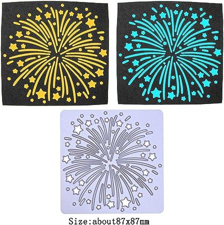 Fireworks Effect Embossing Folder Fast Dispatch* Card Making *UK Seller Stars