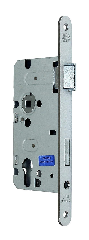 BKS Standard Zimmer Türschloss für Profilzylinder 55/72/8, Stulp: 20 x 235mm abgerundet, DIN Rechts incl. SN-TEC® Montageset BKS/SN-TEC