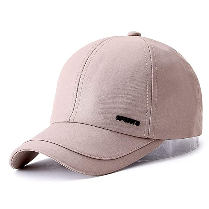 9490e8cf165 Image Unavailable. Image not available for. Color  Cotton Solid Unisex Baseball  Cap Sports Golf Snapback Simple Color Hats for Men Women Sun Outdoor