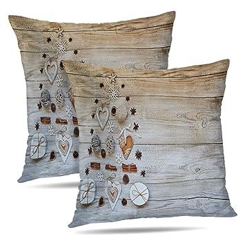 Amazon.com: Soopat Funda de almohada decorativa cuadrada con ...