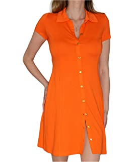 Zeagoo Damen Polo-Kleid Enges Kleid Shirtkleid Partykleid mit ... daef9aee60