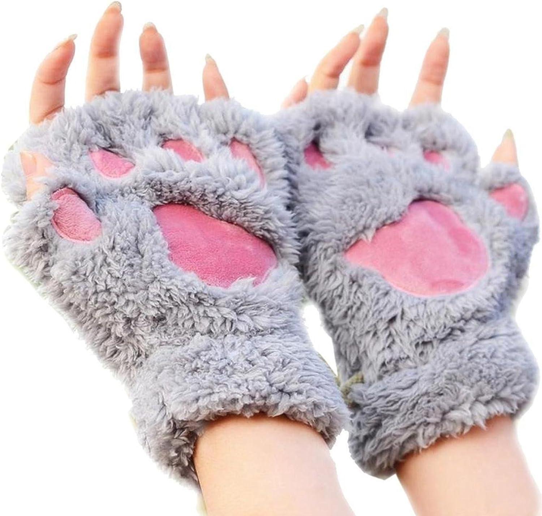 Women Winter Cute Cat Paw...