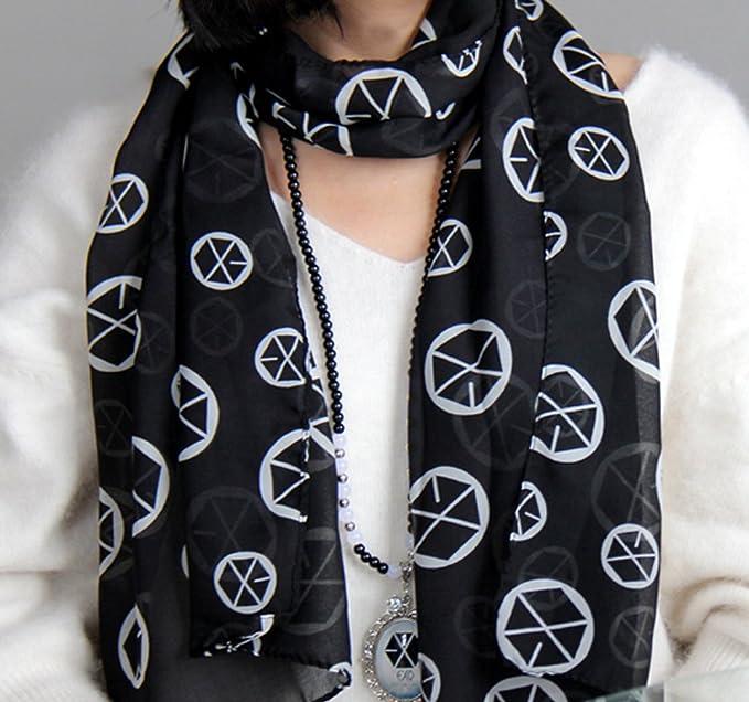 Amazon.com: EXO kpop scarf logo member symbol korean fashion (SEHUN): Home & Kitchen