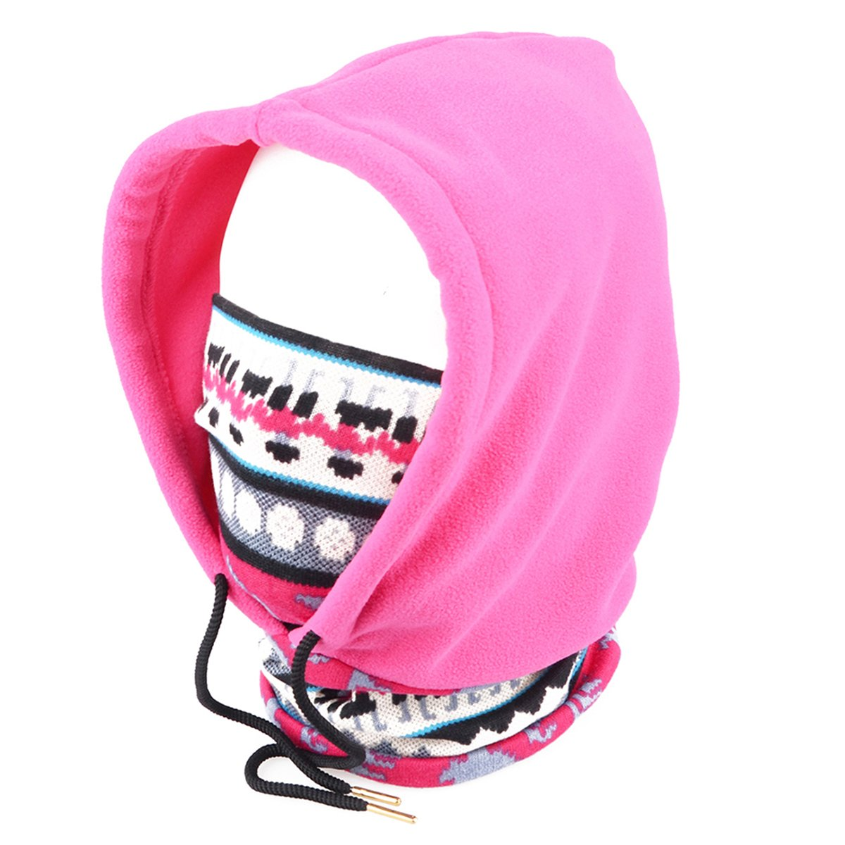 Triwonder 250g Fleece Full Face Cap Hat Neck Warmer Face Mask Balaclava Hat OS0702GY