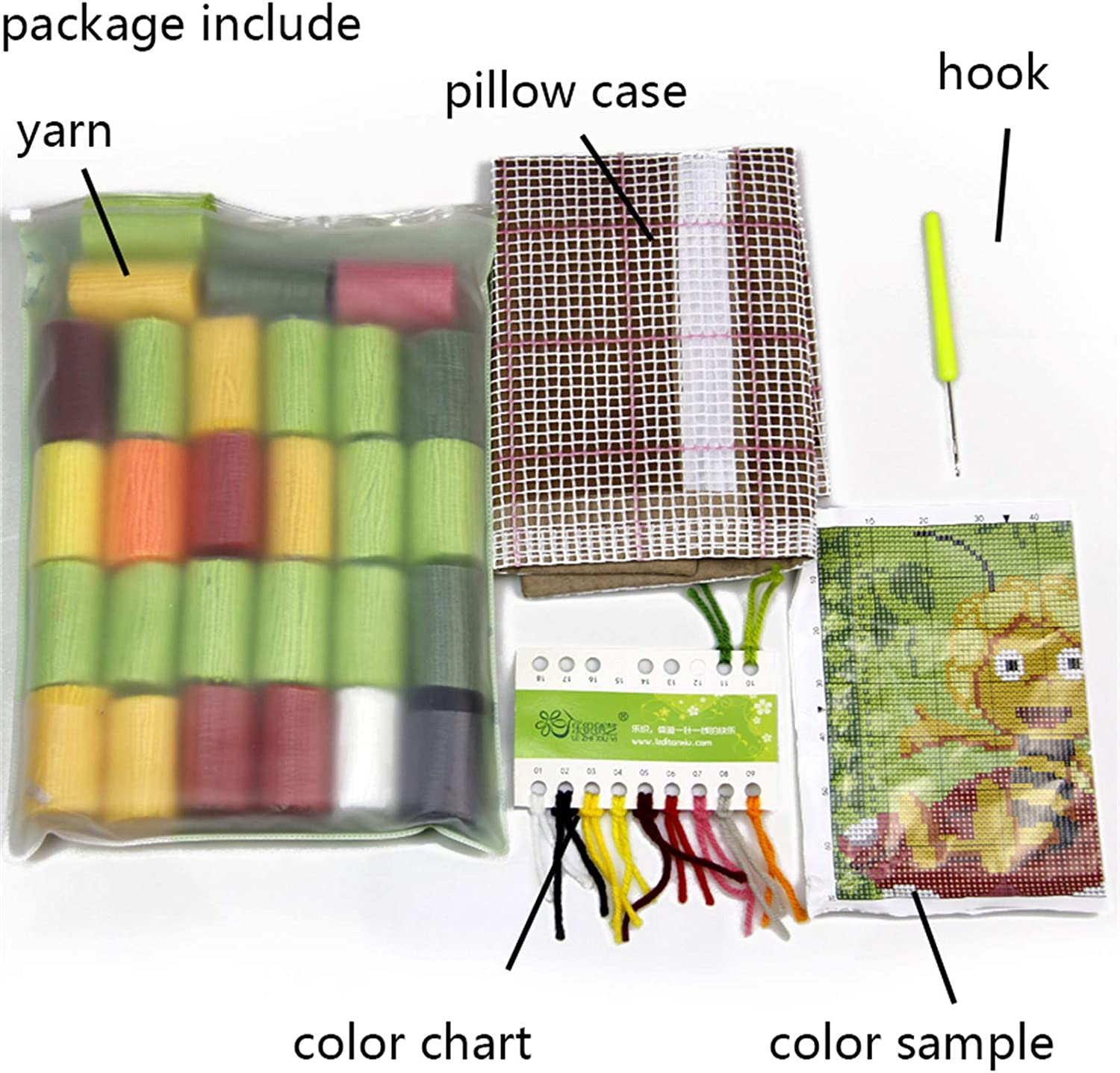 DIY Handmade Latch Hook Kits Carpet Rug Making with Printed Preprinted Pattern Swan for Home Decor 17 X 17