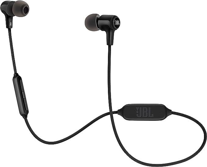 JBL E25BT – Écouteurs Intra Auriculaires Sans Fil Bluetooth – Avec Microphone et Télécommande Universelle à 3 Touches – Autonomie Jusqu'à 8 hrs –