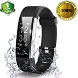 OMNiX™ ID115 Plus HR Smart Wristband Heart Rate Monitor with 0.96 Inch OLED Display / KIONIX Sensor/ Pedometer /Distance /Calorie /Sleeping Monitor/ Multiple Sports Modes/ Alarm Clock/ Remote Camera Control/ Sedentary Alert/ In-coming Call Alert/ Heart Rate Monitor/ Bluetooth 4.0/ Life waterproof / Android 4. 4