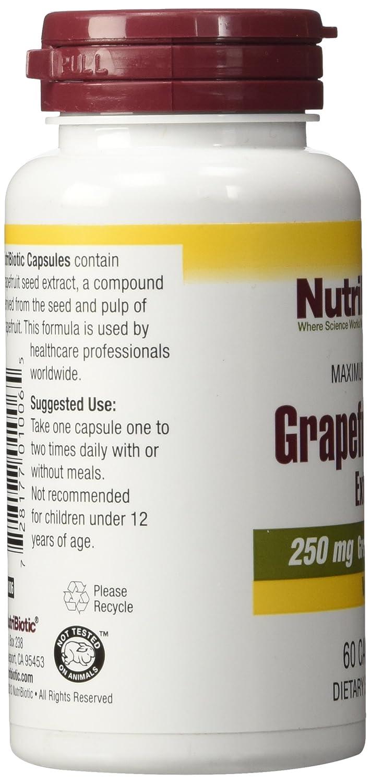Nutribiotic Gse Capsules Caps, 250 Mg, 60 Count: Amazon.es: Salud y cuidado personal