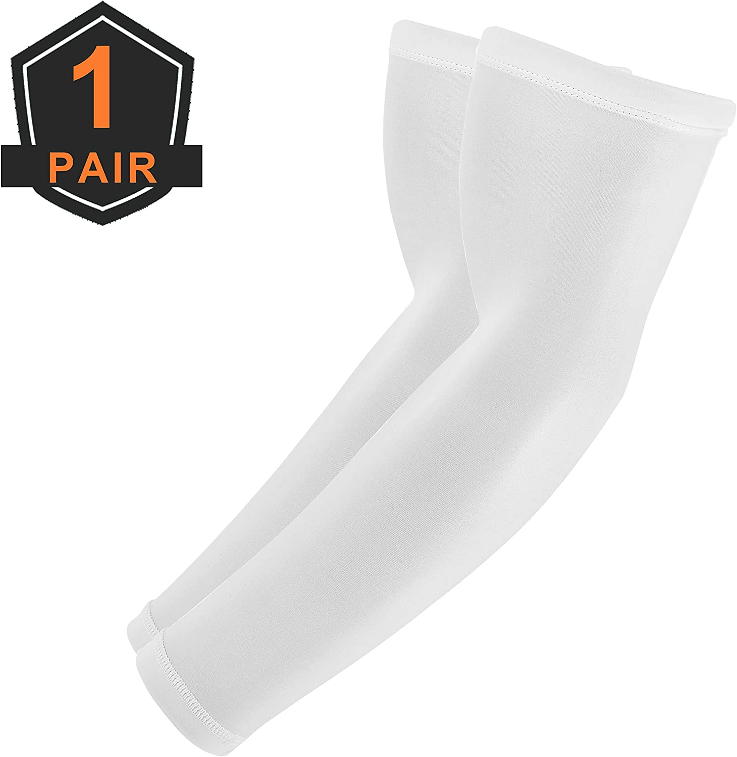 skybulls Compression Arm Sleeves, UPF50 UV Sun Sleeves Non-Slip Tattoo Arm Cover for Basketball, Climbing, Golf, Biking, Football, Running, Baseball & Other Outdoor Sports - Unisex