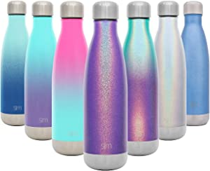 Simple Modern 17 Ounce Wave Water Bottle - Stainless Steel Double Wall Vacuum Insulated Reusable Leakproof Shimmering: Kunzite