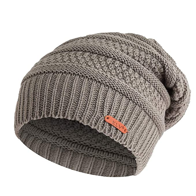 Moonuy Unisexe 2Pcs Chapeau Chaud Tricot Tour de Cou avec Doublure Polaire  pour Homme Bonnet Echarpe abcc611c60e