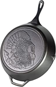 Lodge Wildlife 13.25 in Cast Iron Skillet with Turkey Scene