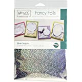 "Gina K. Designs Fancy Foils 6""x8"" Sheets 12 Sheets per Pack (Silver Sequins)"