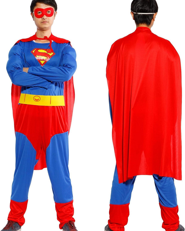 Anladia - Disfraz de Superman Superhéroe Cosplay Traje Musculoso ...