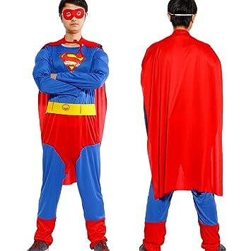 Anladia - Disfraz de Superman Superhéroe Cosplay Traje ...