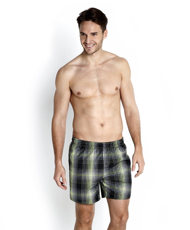 Speedo Yarn Dyed Check Leisure 16?Inch Water Shorts Mens