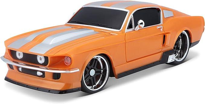 Bauer Spielwaren M81061 Tech R C Ford Mustang Gt Ferngesteuertes Auto Im Maßstab 1 24 Mit Pistolengriff Steuerung Hinterradantrieb Ab 8 Jahren 20 Cm Orange 581061 1 Spielzeug