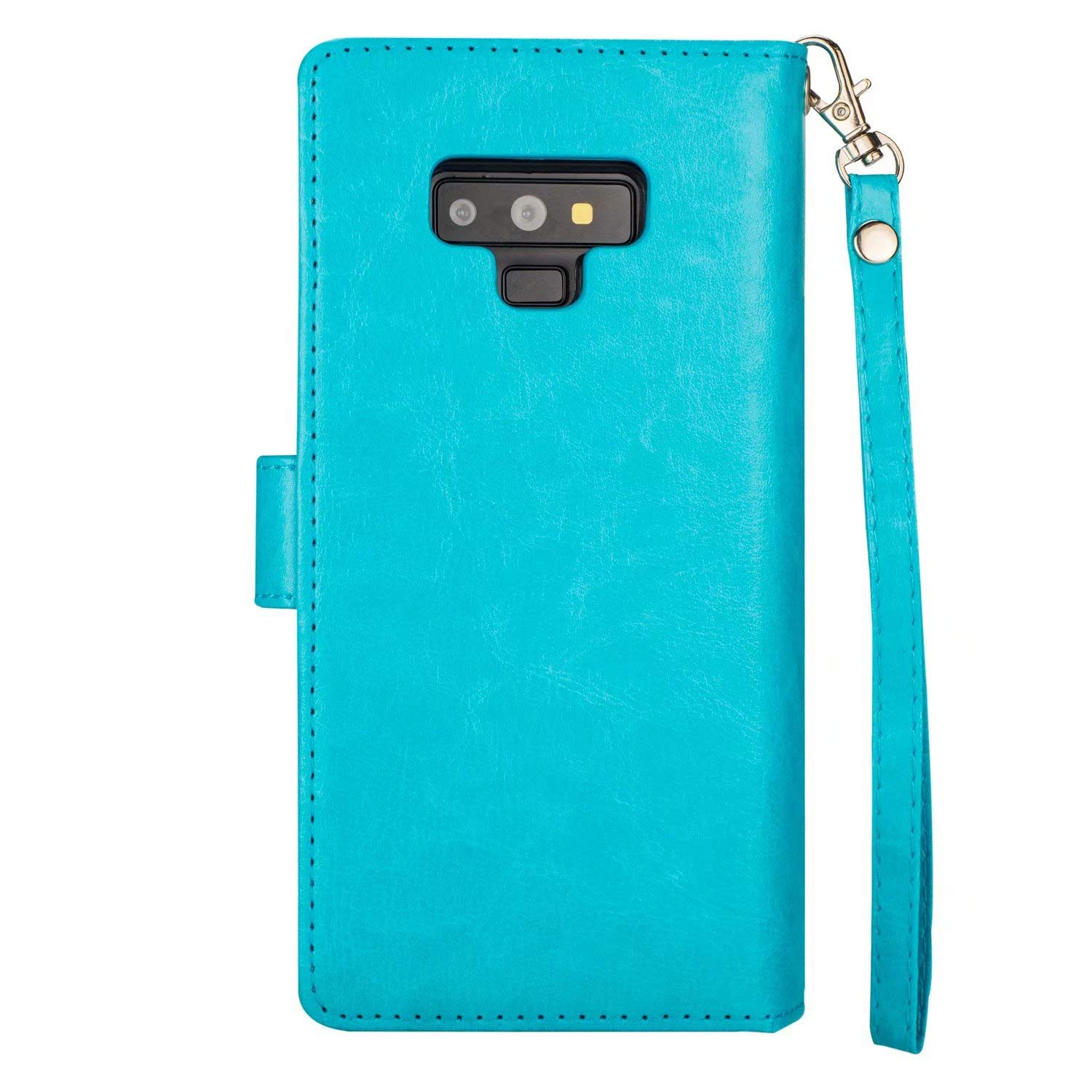 SUPZY Leather Detachable Magnetic Flip 9 Card Slots Holder Galaxy Note 9 Wallet Case