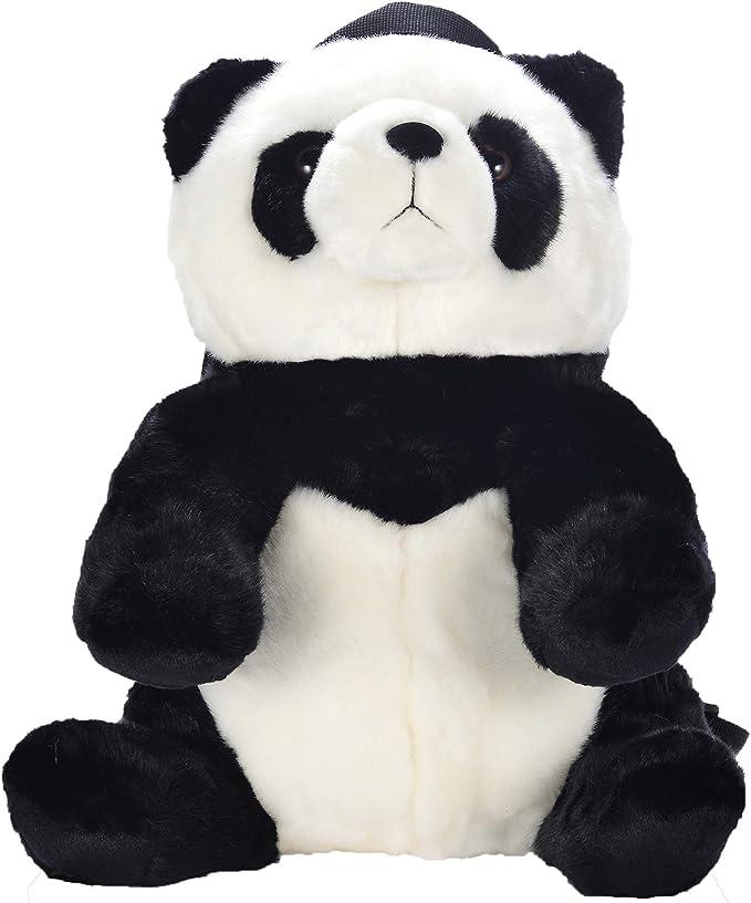 Cute Little Panda Plush Bag Purse All 9Colors 10cm Girls Plush Coin Bag Kids Coin Plush Purse Pouch Color-1