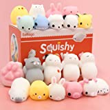 Mochi Squishy Toys, Satkago Squishys 20 Pcs Mini Squishies Mochi Animals Stress Toys Panda Squishy Kawaii Squishy Cat Stress Reliever Anxiety Toys For Children Adults