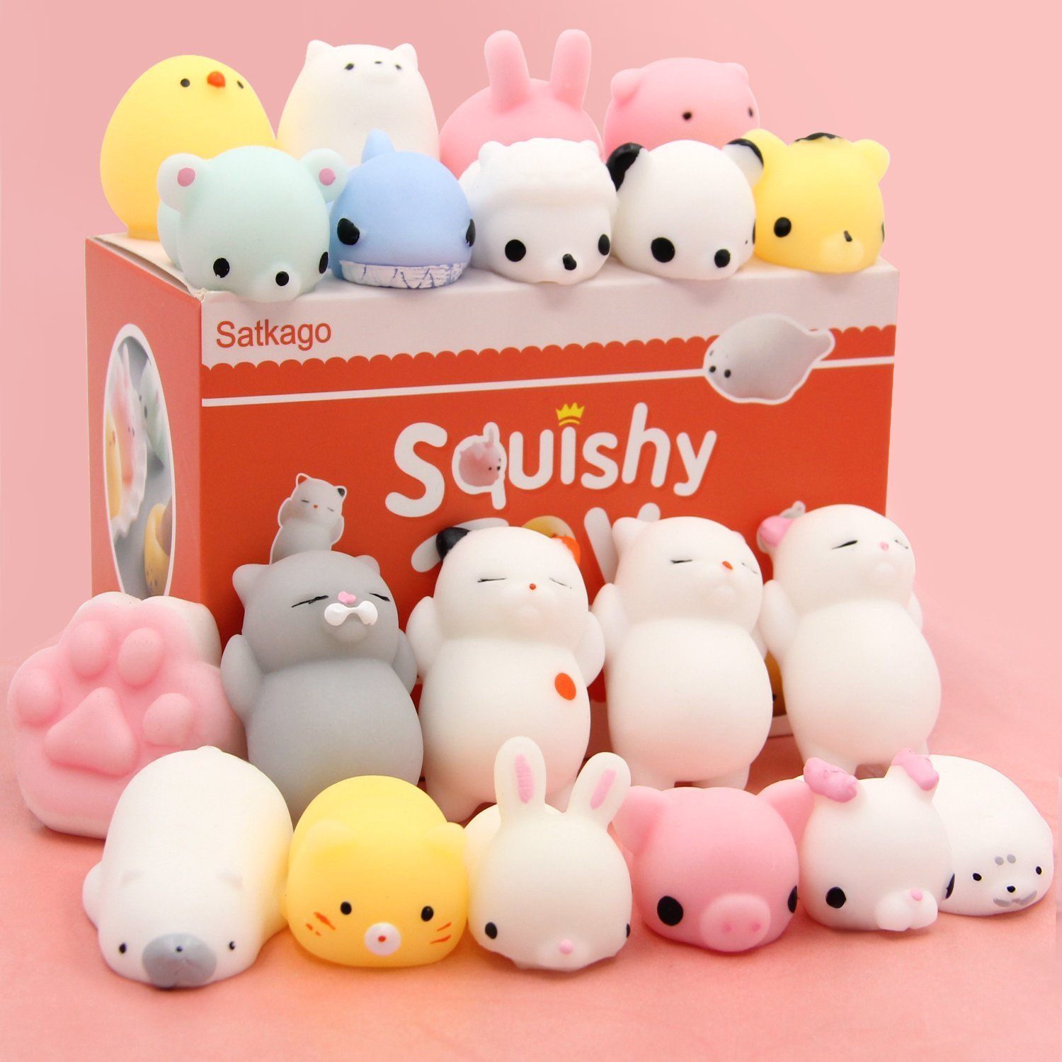 Squishy Toys Pictures : Amazon.com : Squishy Cats Toys HAIYOO 9 Pcs Kawaii Soft Cats Squishies Mochi Squishy Squeeze ...