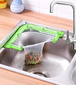Triangle Tri-Holder Filter, Mesh Hanging Net Bag For Sink, Fine Kitchen Leftovers Filter Mesh,Garbage, Prevent Hair& Food Scraps(1 Holder + 100 PCS Filters+Suction Cups)