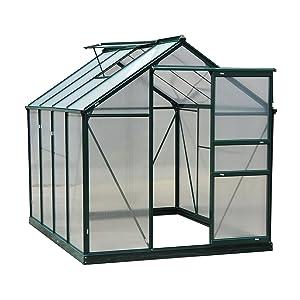 Outsunny 6' x 8' x 7' Walk-in Garden Greenhouse