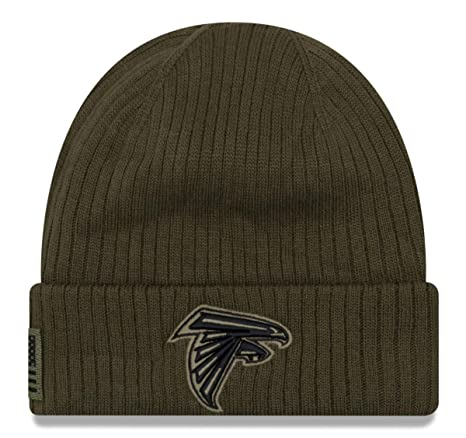 huge discount a6bf5 c9706 New Era 2018 Mens Salute to Service Knit Hat (Atlanta Falcons)
