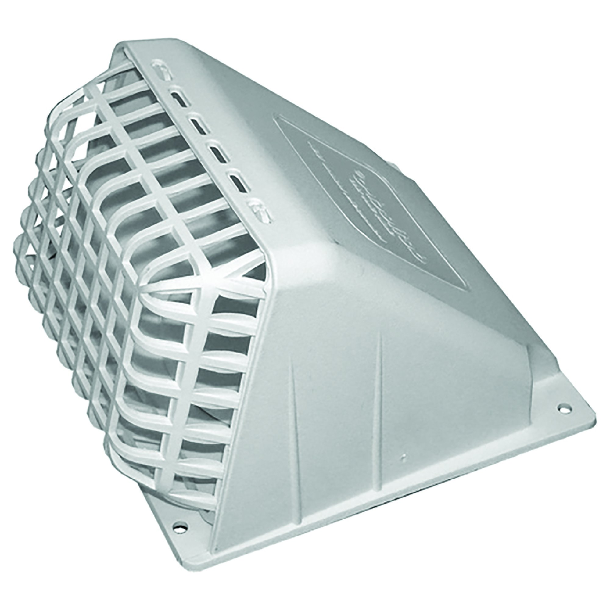 Deflecto Wide Mouth Dryer Vent Hood with Removable Bird Guard, Damper, Weather-Resistant, 4 Inches Hood, White (HR4W)