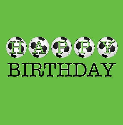 Feliz cumpleaños tarjeta de felicitación de fútbol: Amazon ...
