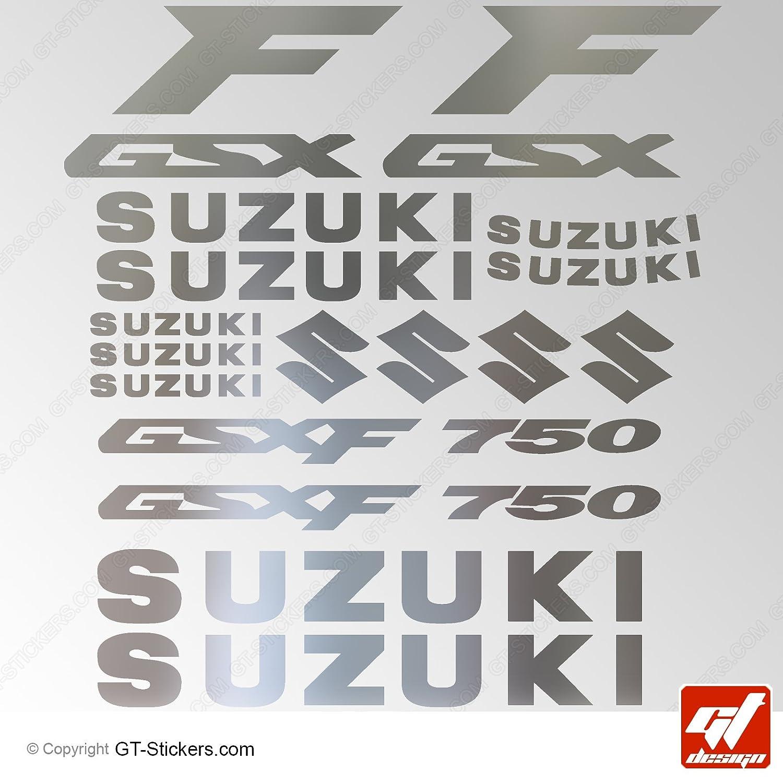/Brett XXL 17/GSX R /Chrom//Rot/ Sticker Aufkleber gt-design GSXR Aufkleber Suzuki GSX 750/ selbstklebend